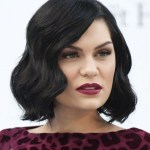 Jessie J Black Curly Bob Hairstyle