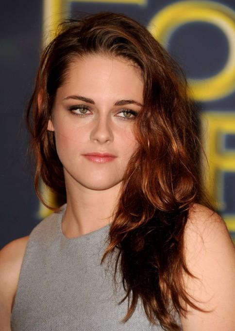 Kristen Stewart Long Red Wavy Hairstyles