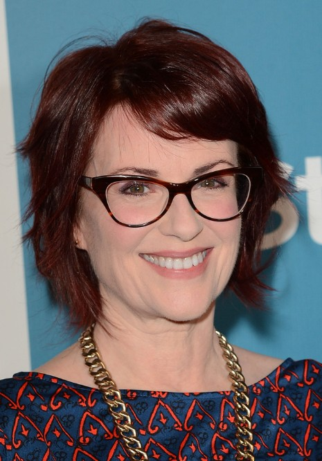 Megan Mullally Layered Choppy Bob Hairstyle Hairstyles