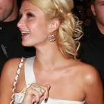 Paris Hilton Bobby Pinned Updo Hairstyle
