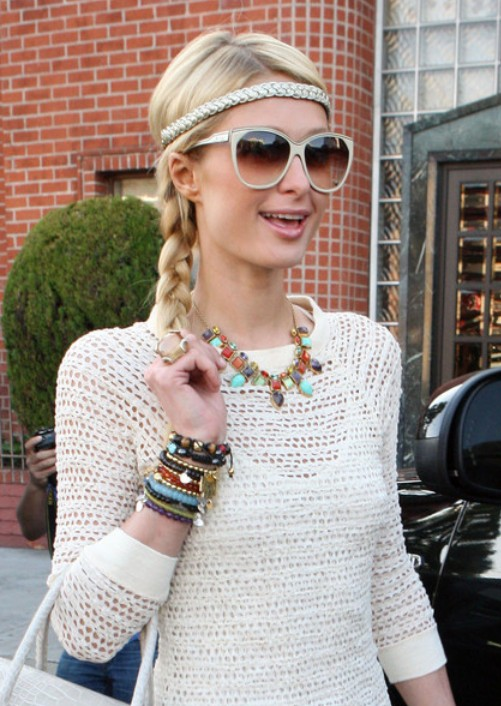 Paris Hilton Cute Casual Long Braided Hairstyle With