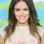 Rachel Bilson Center Parted Layered Ombre Hairstyle