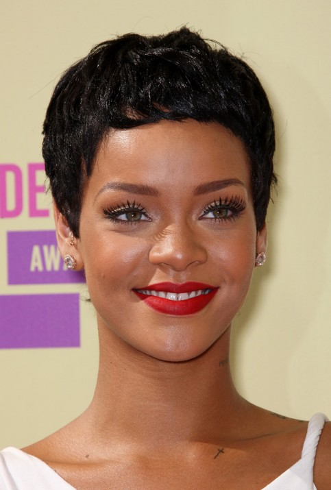 Rihanna Black Boy Cut for Women