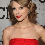 Taylor Swift Updo Hairstyle for Prom