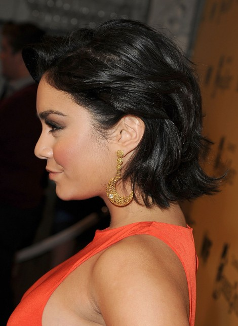 Vanessa Hudgens Short Curled Out Bob Hairstyle