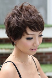 pretty pin-curl pixie cut