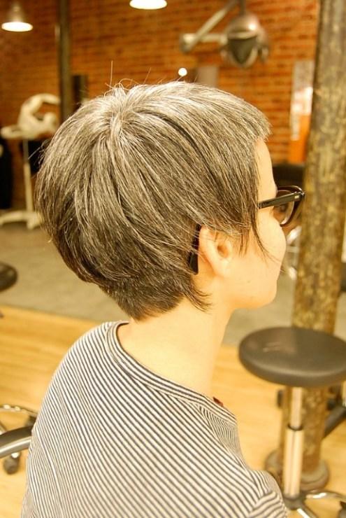 Back View of Asymmetrical Bob Hairstyle
