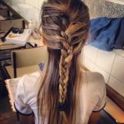 casual feminine french braid