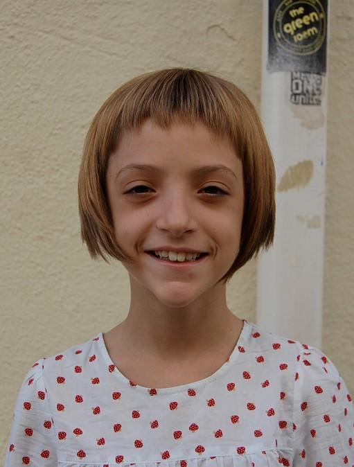 "Sugar & Spice"" Girl's Geometric Bob Hairstyle For Girls"