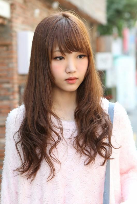 Cute Korean Hairstyle For Long Hair Hairstyles Weekly