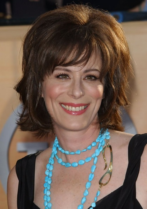 Jane Kaczmarek Layered Hairstyle with Bangs for Thick Hair  Hairstyles Weekly