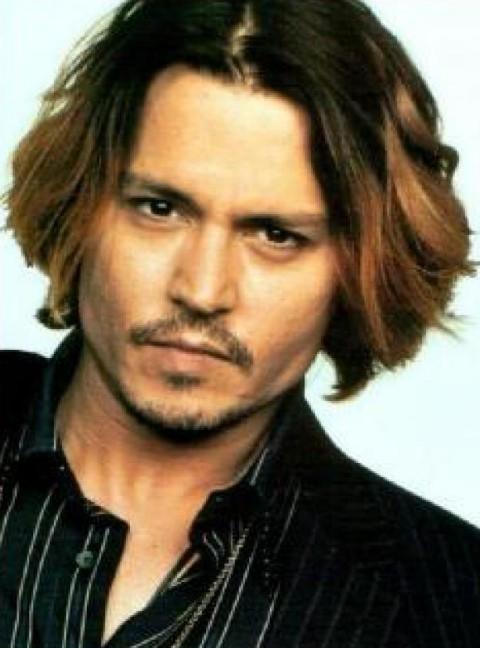 Johnny Depp Haircut Fashion Ombre Hair For Men