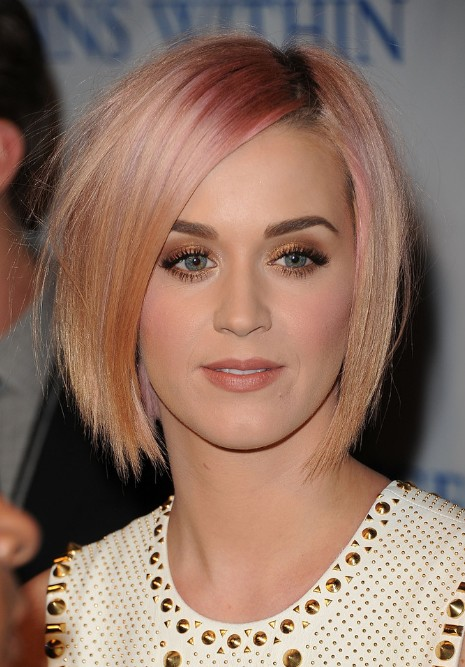 Katy Perry Short Sleek Bob Hairstyle Hairstyles Weekly