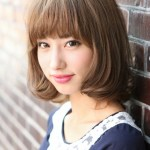 Kawaii Japanese Bob Hairstyle with Bangs