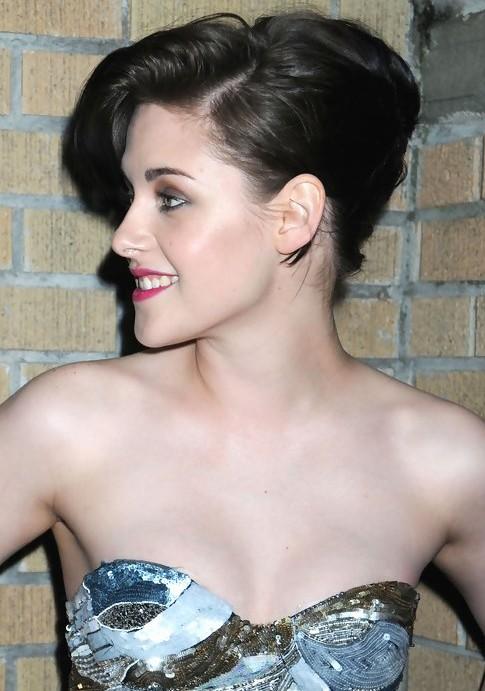 Kristen Stewart French Twist Updo Hairstyle