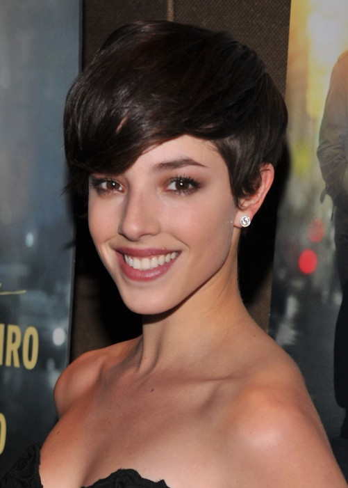 Olivia Thirlby Hairstyle Side Swept Pixie Cut