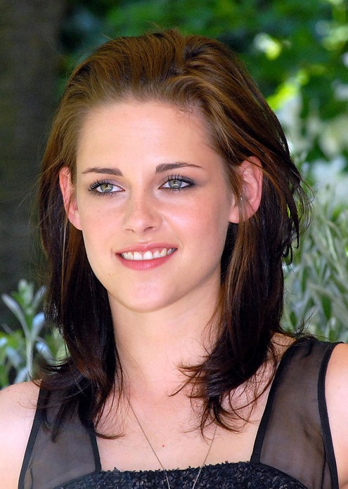 Kristen Stewart Ombre Medium Length Layered Hairstyle