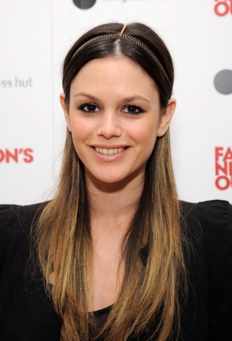 Rachel Bilson Cute Long Sleek Ombre Hair