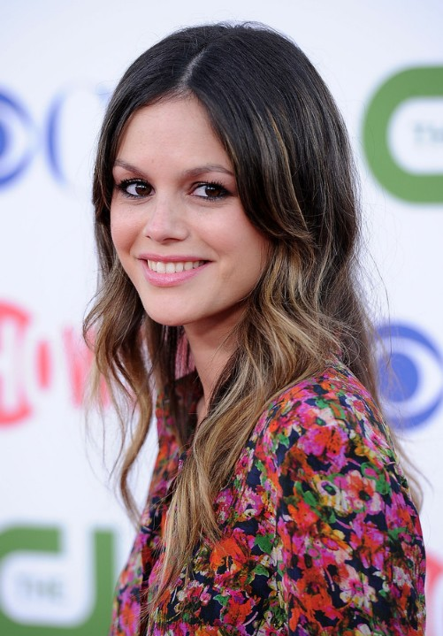 Rachel Bilson Cute Layered Long Wavy Ombre Hair