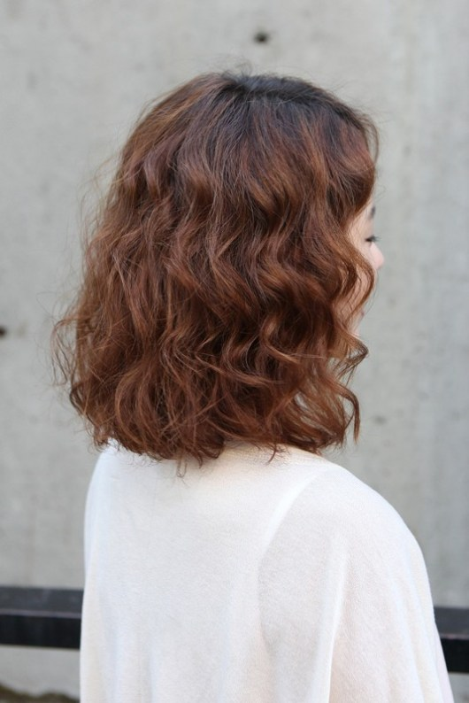 Short Asian Curly Hairstyle 2013