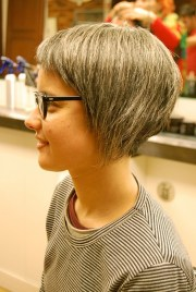 stylish asymmetrical bob haircut