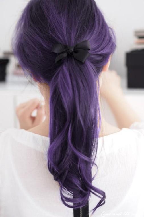Résultats de recherche d'images pour «purple ponytail»
