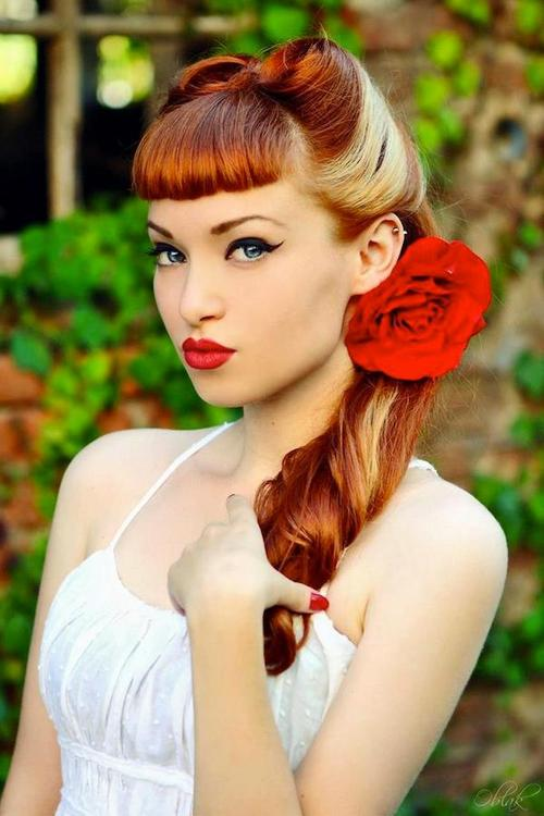 Stylish Retro Hairstyle With Blunt Bangs Hairstyles Weekly