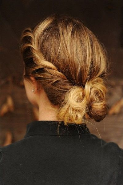 Timeless Chignon Updo Hairstyle