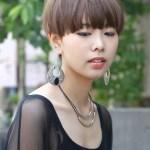 2013 Japanese Short Haircut - Casual Sleek Hair Style for Ladies