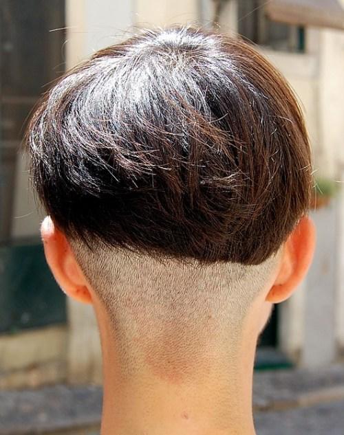 Back View of Modern Assymetric Bob Haircut