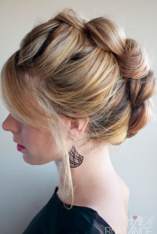Braid Hawk Updo Hairstyle for Women