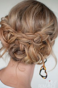 Casual Messy Braided Updo - Quick & Easy Messy Braided ...