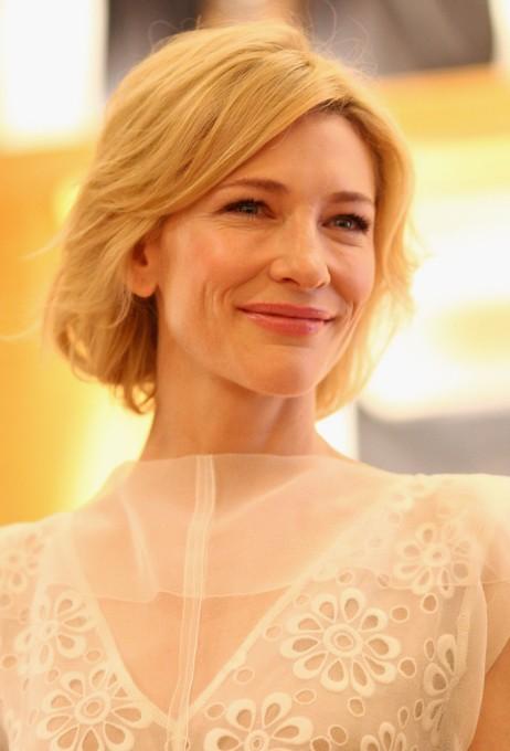 Cate Blanchett Hairstyles Short Blonde Bob Cut For Women
