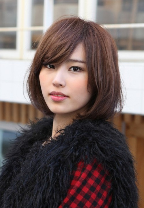Messy Medium Bob with Long, Sexy Fringe - Simple Easy ...