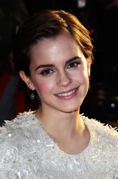 Emma Watson Cute Side Parted Combed-back Bob Cut