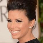 Eva Longoria Golden Globe Awards 2013 Hairstyle- Classic High Pompadour Quiff