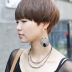 Female Boyish Short Hairstyle - Stylish Helmet Haircut for Women