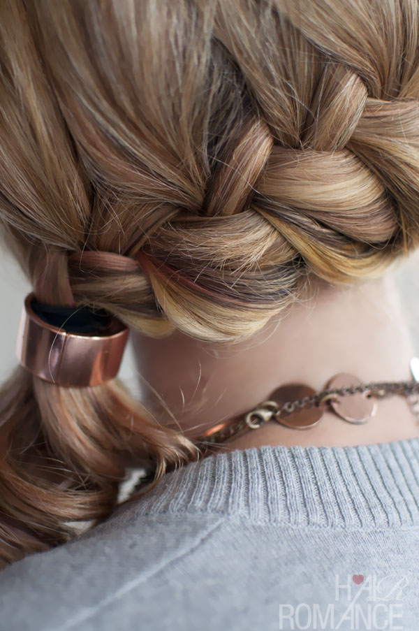 French Side Ponytail Braid Hairstyle