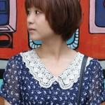 Lovely Short Asian Bob Haircut for Girls