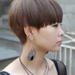 Modern Short Japanese Haircut with Bangs - Mushroom Haircut