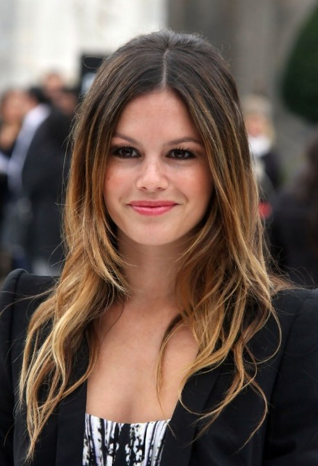 Rachel Bilson Long Center Part Ombre Hair 2013