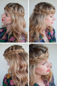 Romantic Crown Braid for Long Hair