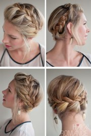stylish french crown braid