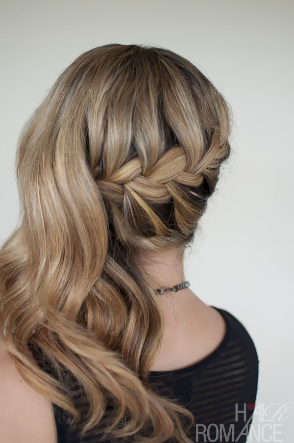 Romantic Side Swept French Braid Hairstyle - Holiday Hairstyles