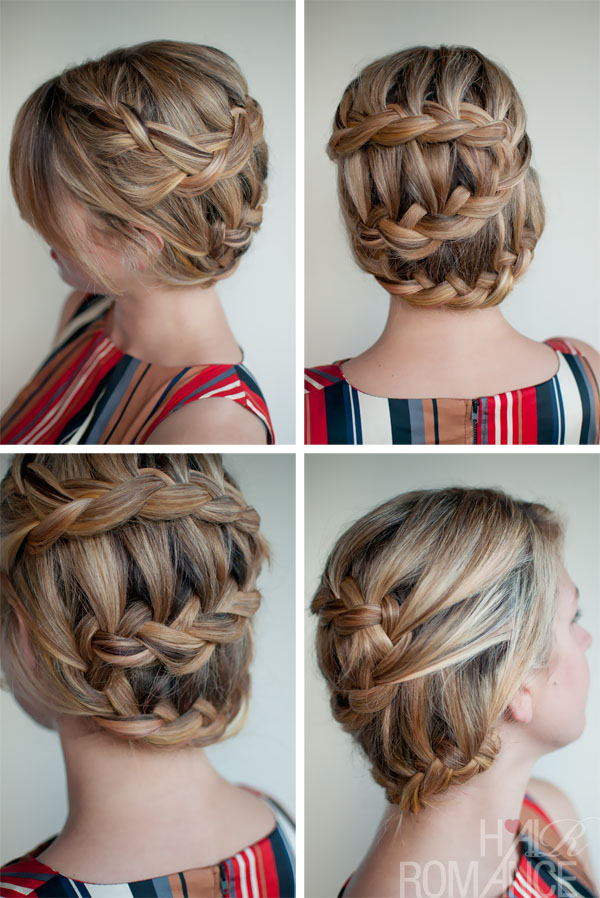 Romantic Unique Braided Updo Hairstyle - Top Hairstyle for Summer