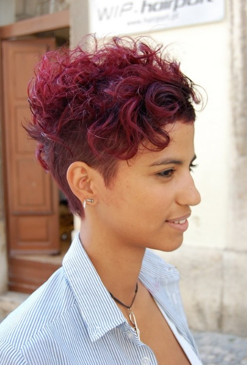 Sexy Short Sassy Curly Red Haircut