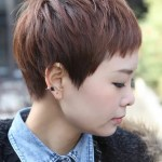 Side View of Short Layered Boyish Haircut for Women - Tokyo Hairstyles