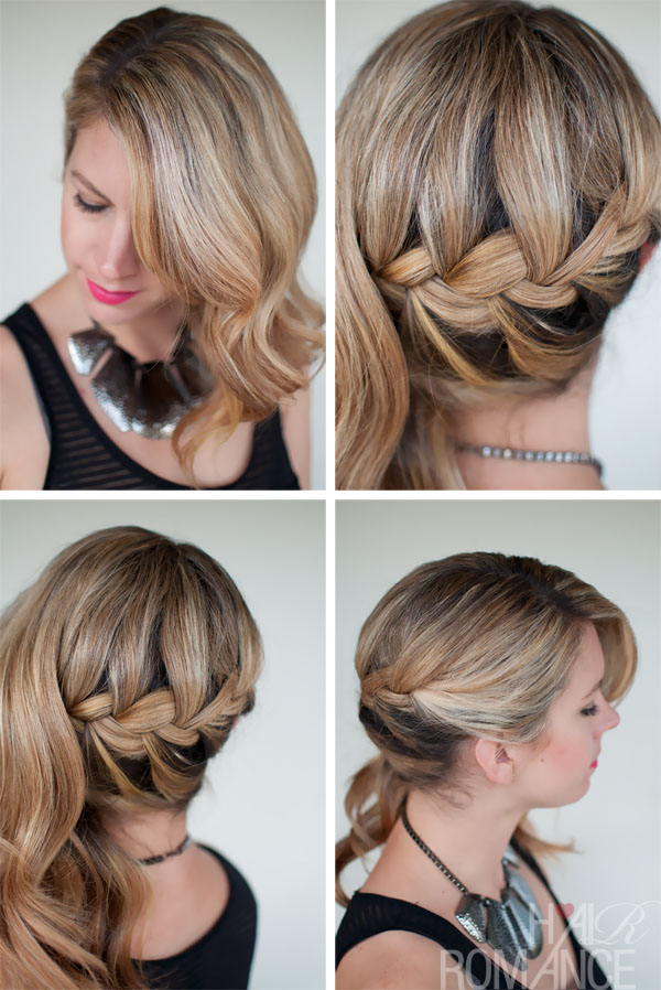 Hair Inspirations: Side Swept French Braid Hairstyle for Wedding
