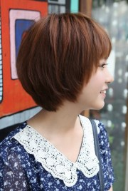 side view of cute short korean
