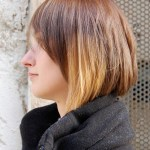 Side View of Most Popular Short Hairstyle with Cool Color